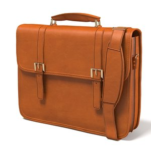 3d man buisness bag model