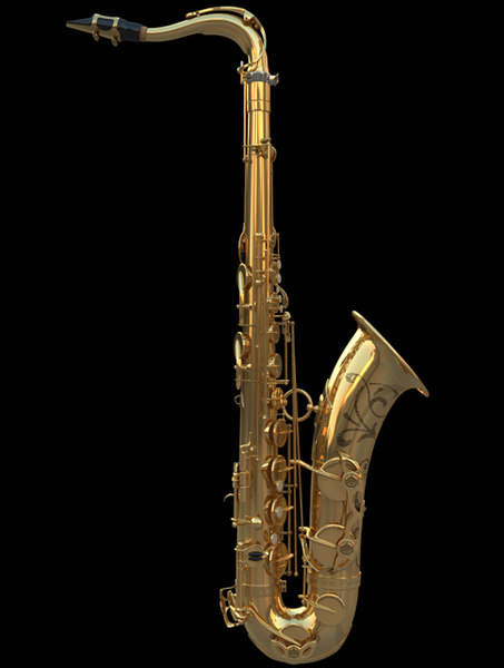 3d model saxophone tenor