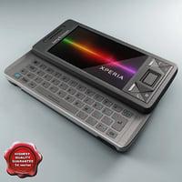 3d sony ericsson xperia x01 model