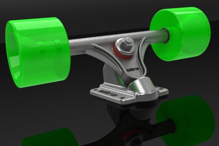 longboard trucks 3d 3ds