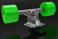 longboard trucks 3d 3ds