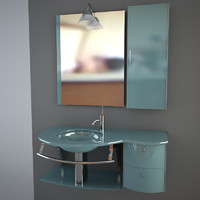 3ds max glass wash basin