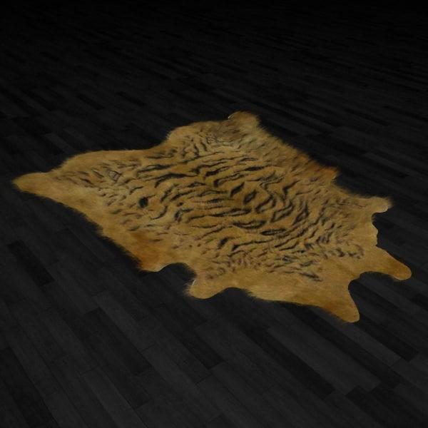Fur Rug Tiger Skin 3d Model