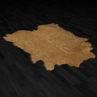 3d fur rug animal skin