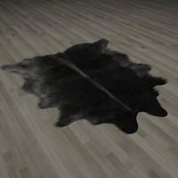 fur rug buffalo skin 3d model