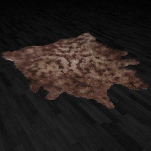 3ds max fur rug animal skin