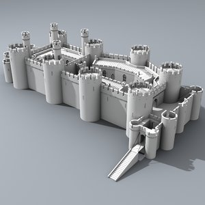3ds max castle conwy