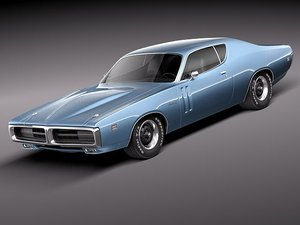 dodge charger 1971 sport 3d max