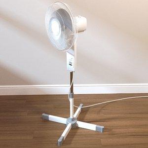 3d freestanding fan