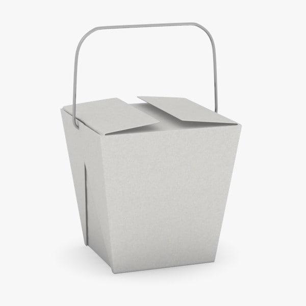 asian food box 3d model