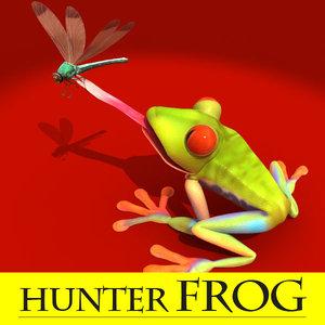 maya frog dragon fly
