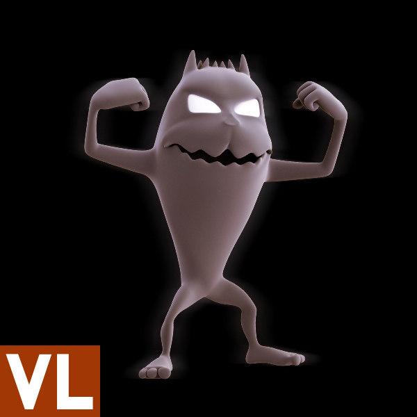 3d model of cartoon monster