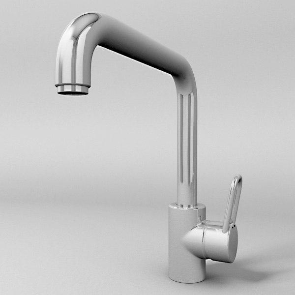 kitchen faucet 3d 3ds