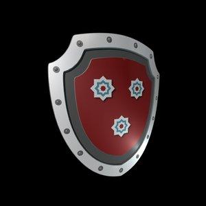 3d shield model
