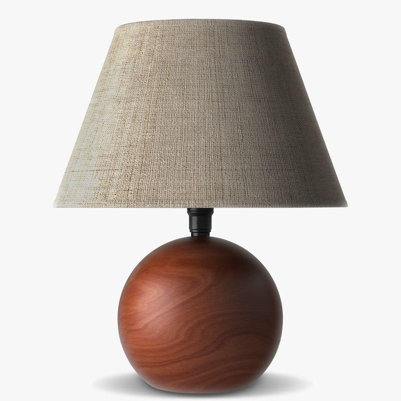 3d decoration lamp cherry wood