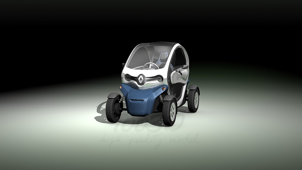 3d twizy renault doors model
