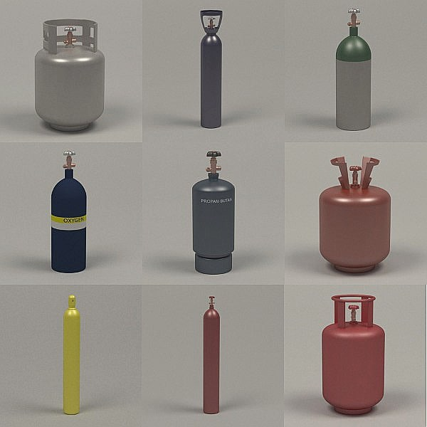 3d gas containers
