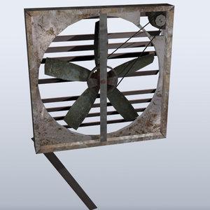 3d model old fan