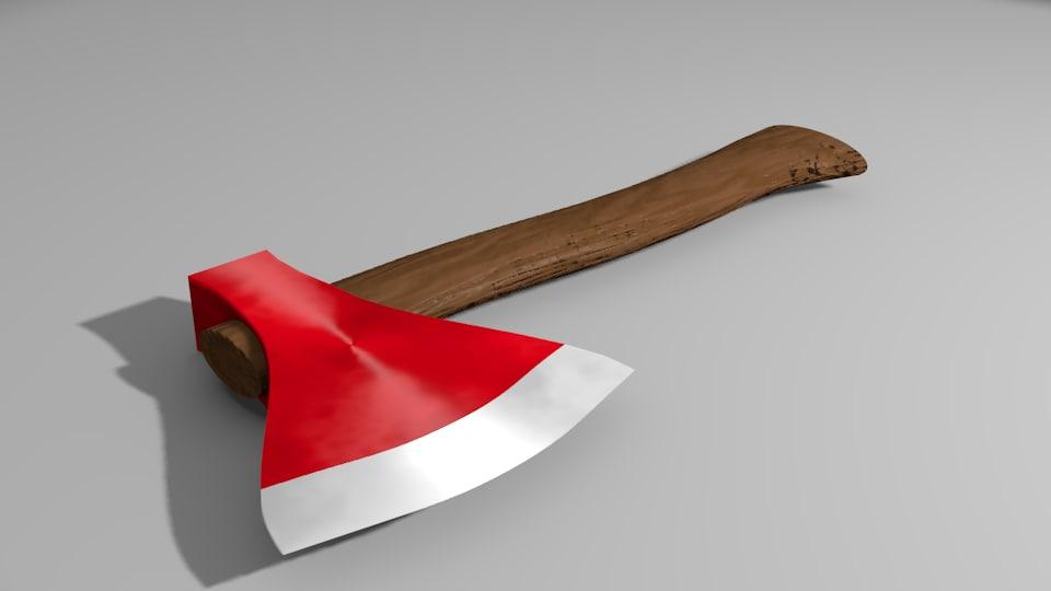 3d blade handle model