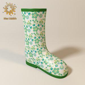 3d rubber boots