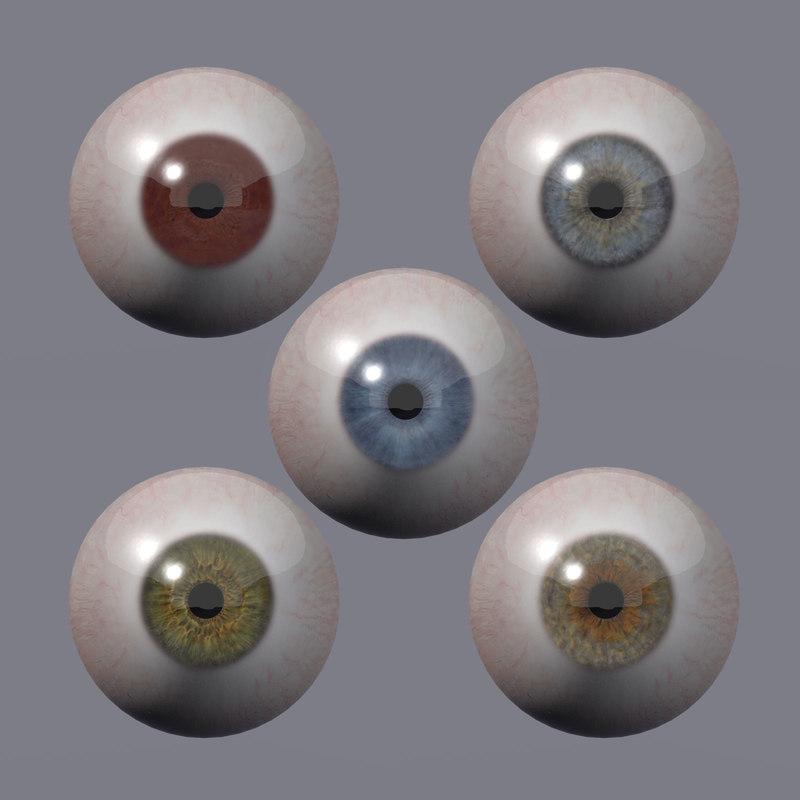 3d eyes pupil model