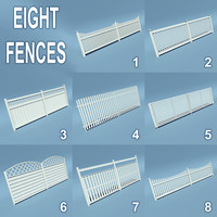 3d wooden fences 8