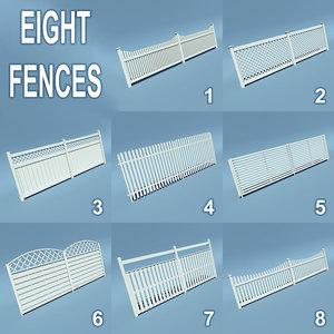3d wooden fences 8