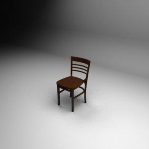 3d max bahamas wood chair