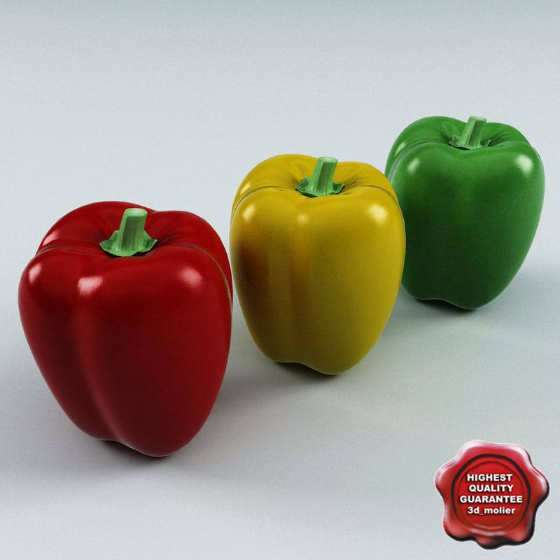 bell peppers 3d model