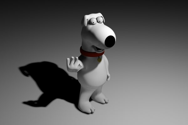 free brian griffin family guy 3d model