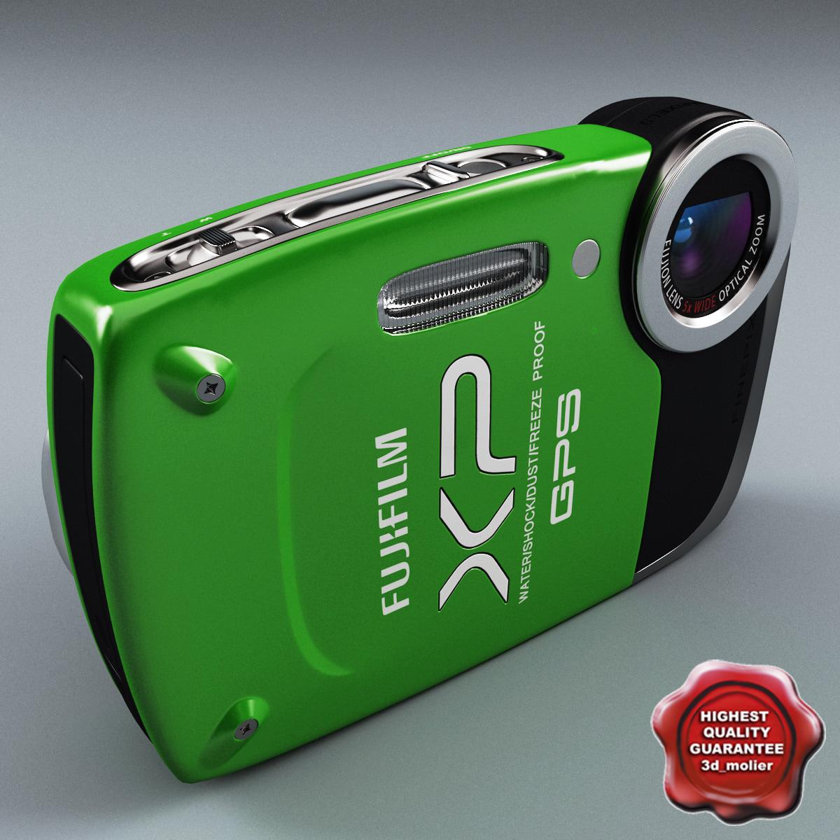 3d max fujifilm finepix xp30 green