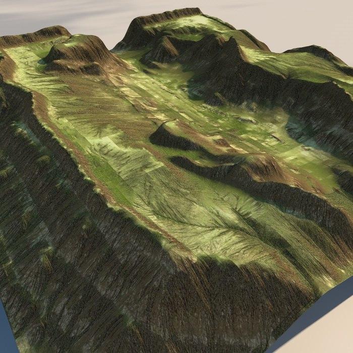 canyon landscape terrains 3d model