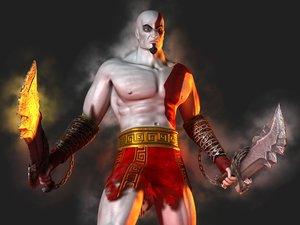 3d model kratos god war video