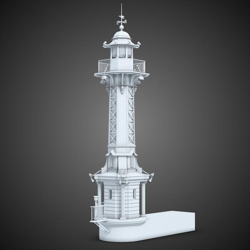 lighthouse light 3d max