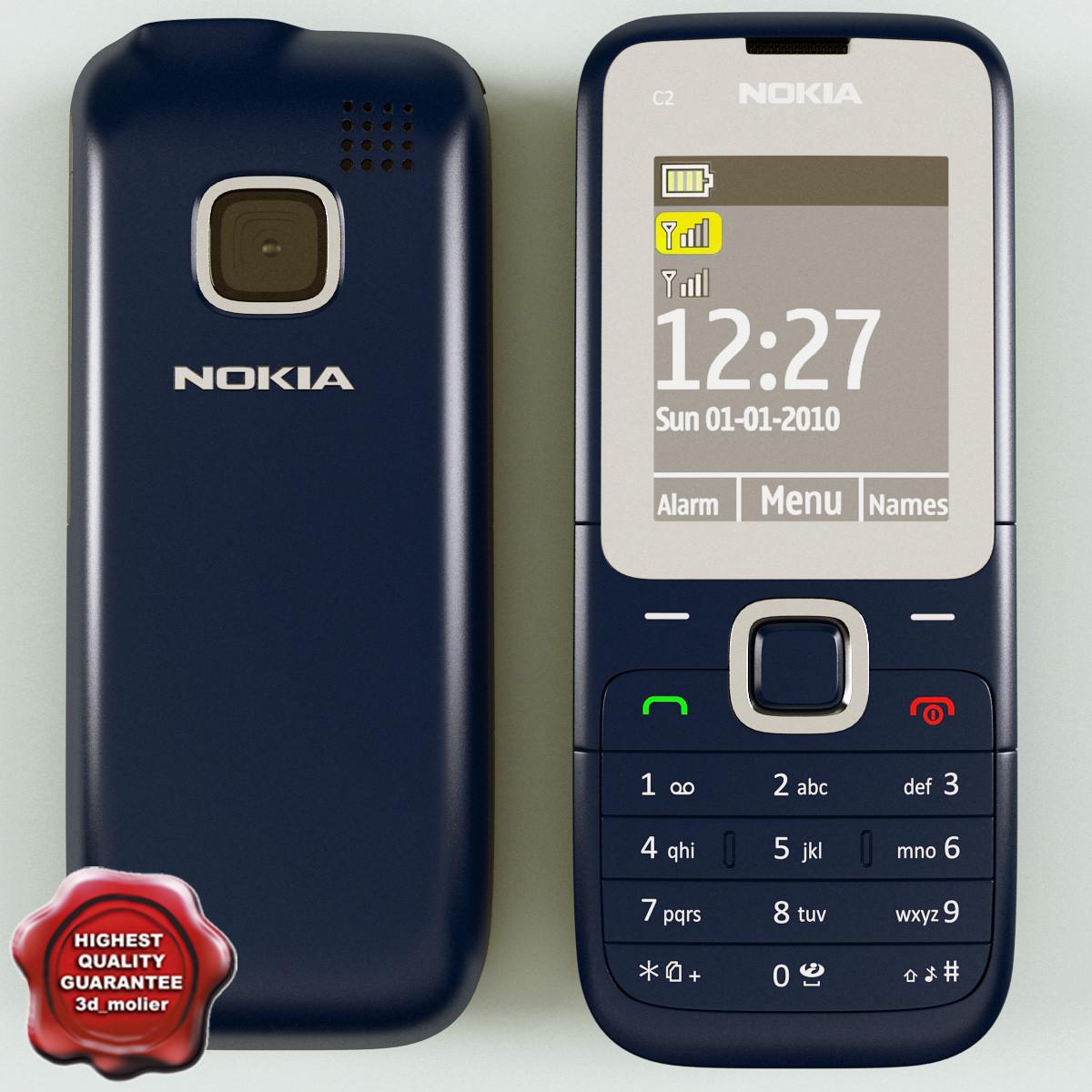 3d Model Nokia C2 00 Blue