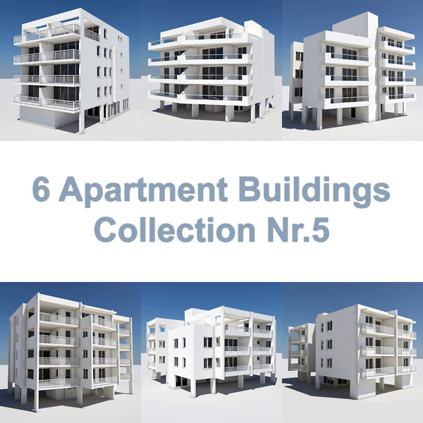 6 apartment buildings 3ds