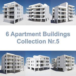 6 apartment buildings 3ds