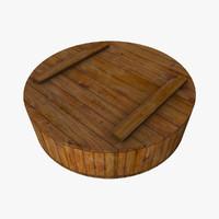 Round Wooden Crate