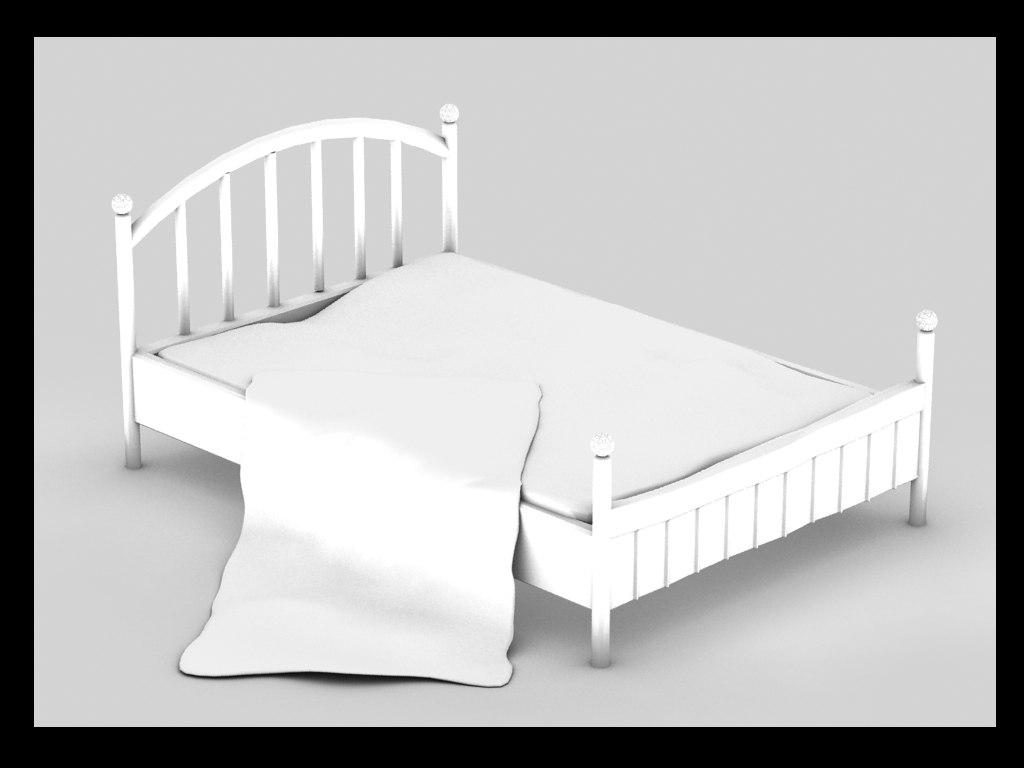 old metal bed 3d model