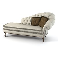 Ceppi 2554 Chaise Lounge With Pillows