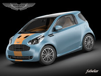 aston martin cygnet racing car 3d max