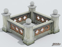 maya stone balustrade