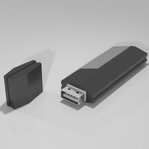usb flash drive 3d 3ds