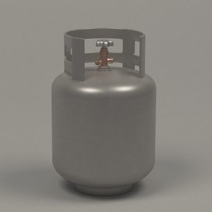 3d gas container model