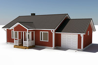 3d story single family house model