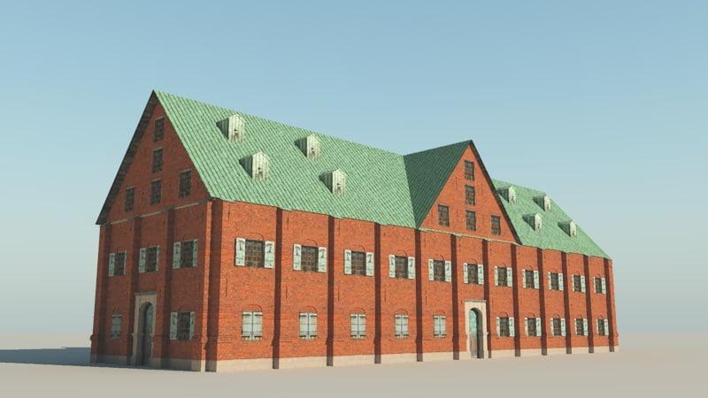 17th century warehouse 3d model