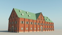 17th century warehouse 3d model