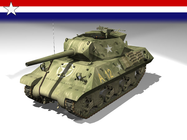 3d model tank destroyer m10