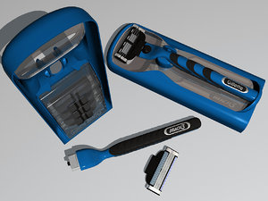 gillette mach 3 set 3d 3ds