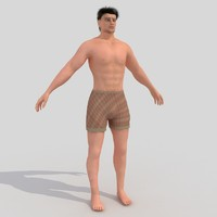 3ds max man male human